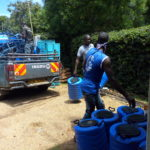 Offloading hand washing kit today (2)